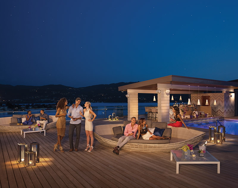 Altitude Bar at Breathless Resort Montego Bay - the only rooftop bar in Montego Bay